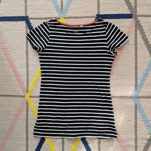 Boden black and white stripe t-shirt size 2 small